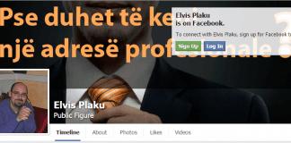 Elvis Plaku profili publik ne Facebook