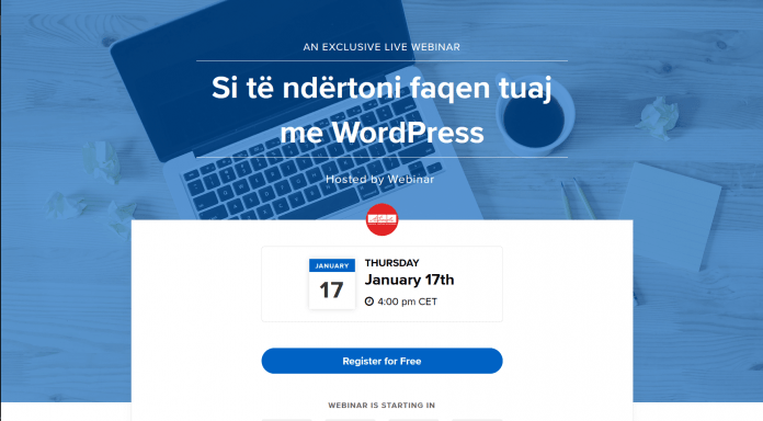 Uebinar 3: Si te ndertoni faqen tuaj me WordPress